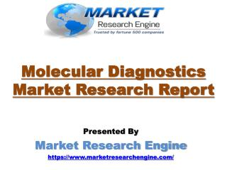 Molecular Diagnostics Market to Cross US$ 10 Billion by 2021