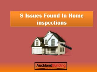8 Issues Found In Home inspections