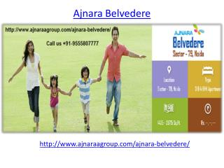 Ajnara Belvedere Real Estate Project