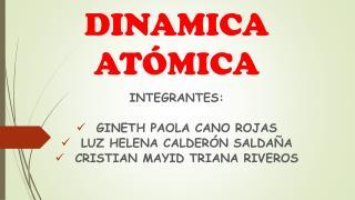 DINÁMICA ATÓMICA