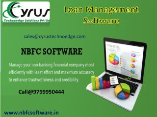 Purchase Loan Management Software -Cyrus Technoedge