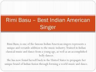 Amazing Indian American Singers