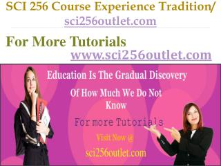SCI 256 Course Experience Tradition / sci256outlet.com