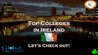 Ireland Education Consultants in Delhi|Student Visa consultants for Ireland|Global Overseas Education Consultants Delhi|