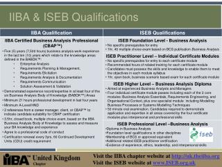 IIBA  ISEB Qualifications