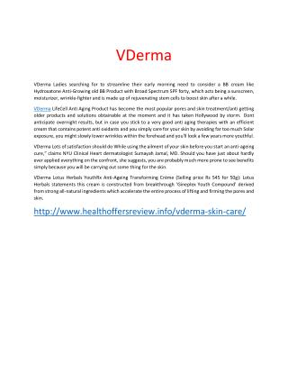 http://www.healthoffersreview.info/vderma-skin-care/