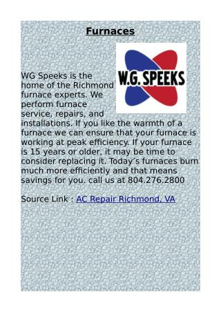 AC Repair Richmond, VA by WG Speeks