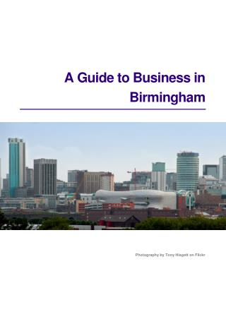 A Guide to Business in Birmingham