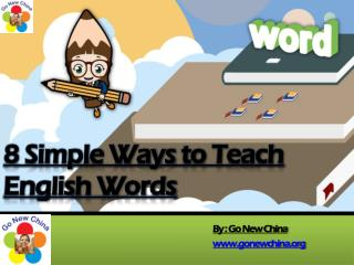 8 Simple Tips to Teach English