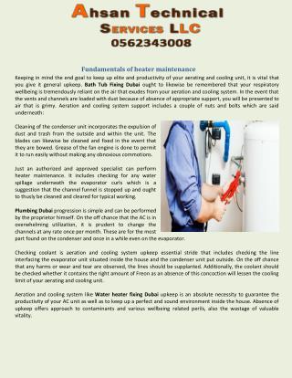 Fundamentals of heater maintenance