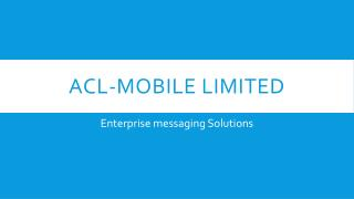 You're Guide to the Enterprise Messaging Solution