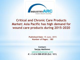 Critical and Chronic Care Products Market: huge scope for pressure sores relieving medical care