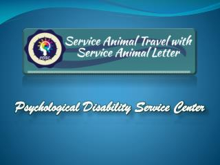 Emotional Service Animal Travel with Letter