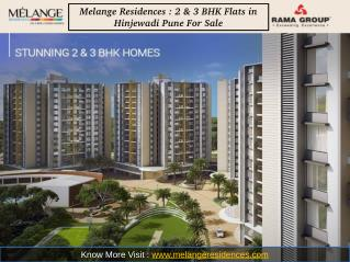 Melange Residences : 3 BHK Flats in Hinjewadi Pune For Sale