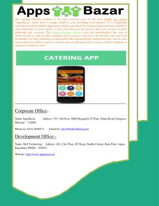 Get Touch in contact with customer by Catering Business Solution App