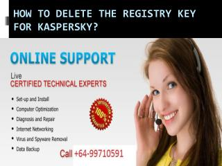 How to Delete the Registry Key for Kaspersky?