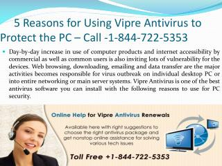 5 Reasons for Using Vipre Antivirus to Protect the PC