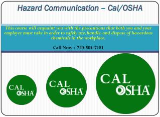 OSHA Health and Safety Courses