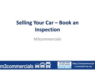 Selling You Car - Book an Inspection