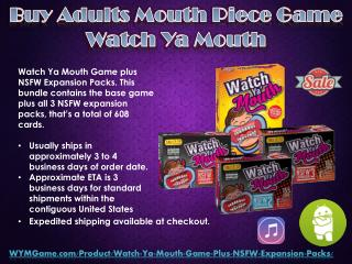Buy Adults Mouth Piece Game - Watch Ya Mouth