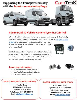 Commercial SD Vehicle Camera Systems: CamTrak