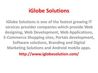 iGlobe Solutions - Web design company in Jaipur