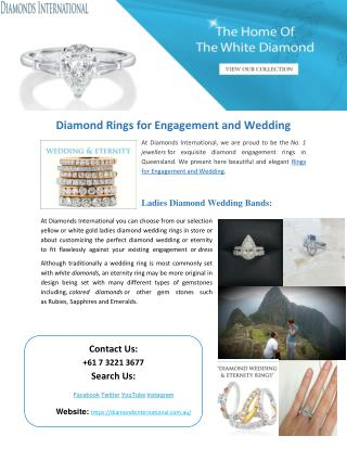 Diamond Rings for Engagement and Wedding