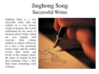 Jinghong Song - Successful Writer