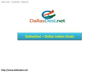 DallasDesi – Dallas Indian Deals