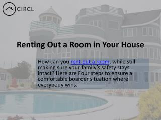 Renting Out a Room in Your House in Toronto| CIRCL