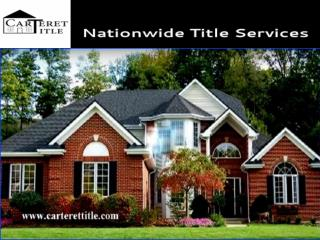 Carteret Title - Nationwide Title Company
