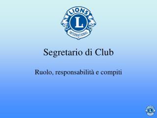 Segretario di Club