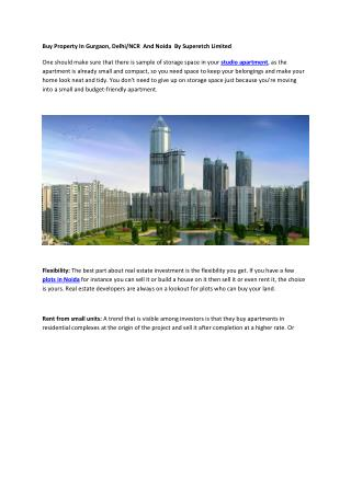 Buy Property In Gurgaon, Delhi/NCR And Noida By Superetch Limited!!!