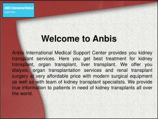 Kidney Transplant Specialists Hospital – Anbis