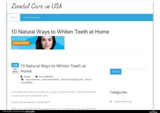 Dental Cares in USA
