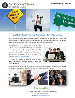 Best Sales Person Training Workshops - North Bound Sales