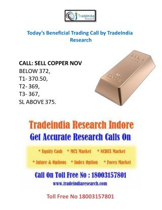 Today's Beneficial Trading Call by TradeIndia Research