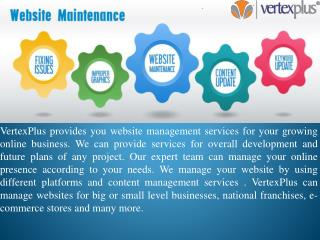 Web maintenance services at VertexPlus