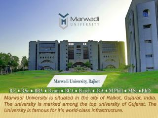 Marwadi University   Gujarat India