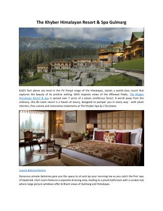 The Khayber Himalayan Resort & Spa Gulmarg