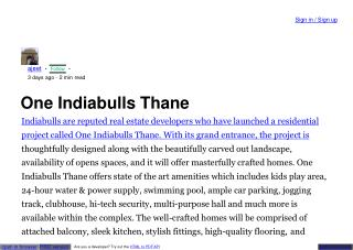 Indiabulls New Launch