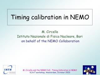 Timing calibration in NEMO