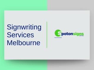 Signwriting Services Melbourne