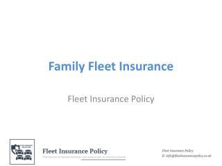 Family Fleet Insurance