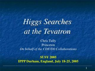 Higgs Searches at the Tevatron