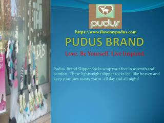 Pudus Brand Slipper Socks