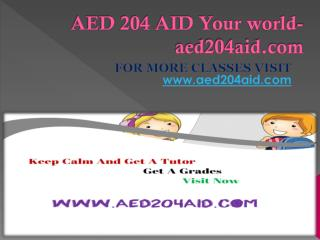 AED 204 AID Your world-aed204aid.com