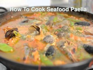 Want to try lip-smacking seafood paella?