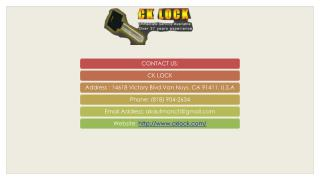 Hire a Reliable Locksmith Sherman Oaks For Getting Complete Security Solutions