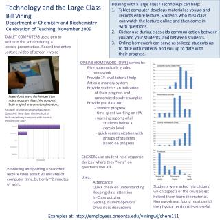 Technology and the Large Class